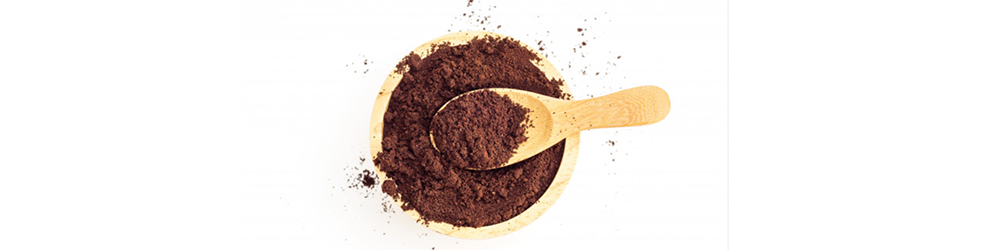 Grains de café moulus