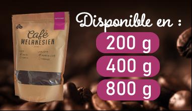 Cafe Mélanésien Papouasie Moulu disponible en 200 400 et 800 grammes